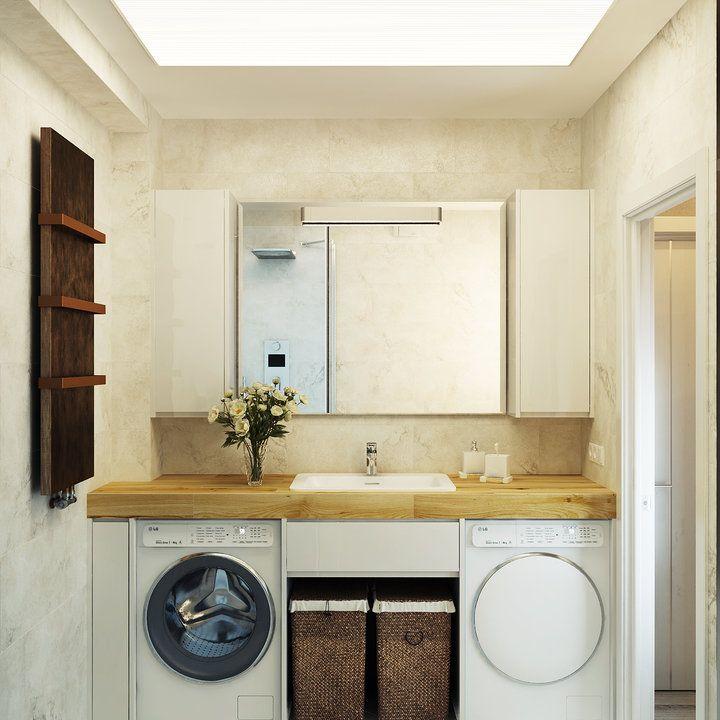Washing machines in a small bathroom | Small bathroom ... on Small Space Small Bathroom Ideas With Washing Machine id=33268