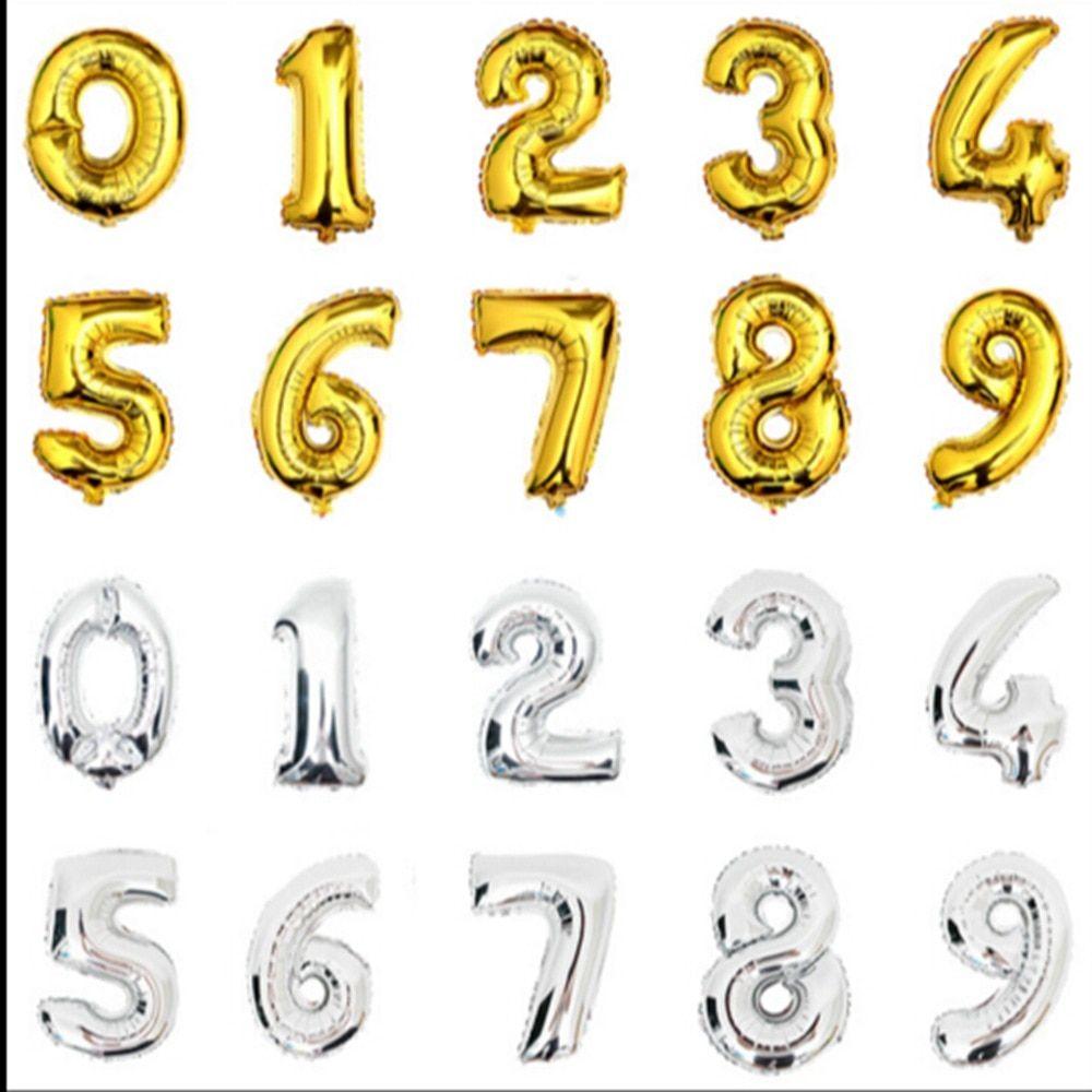 """Globos De Papel De Aluminio Número Letra 32/"""" aire globos grandes Feliz cumpleaños fiesta Ballons"""