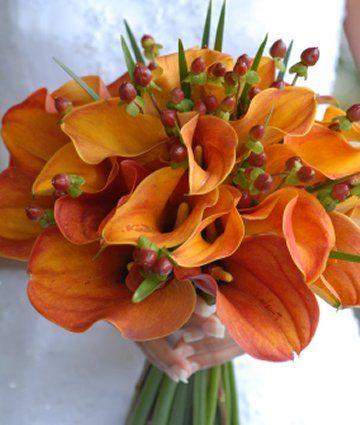 fall calla lily bouquet