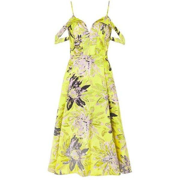 Topshop Floral Jacquard Prom Midi Dress 150 Liked On Polyvore