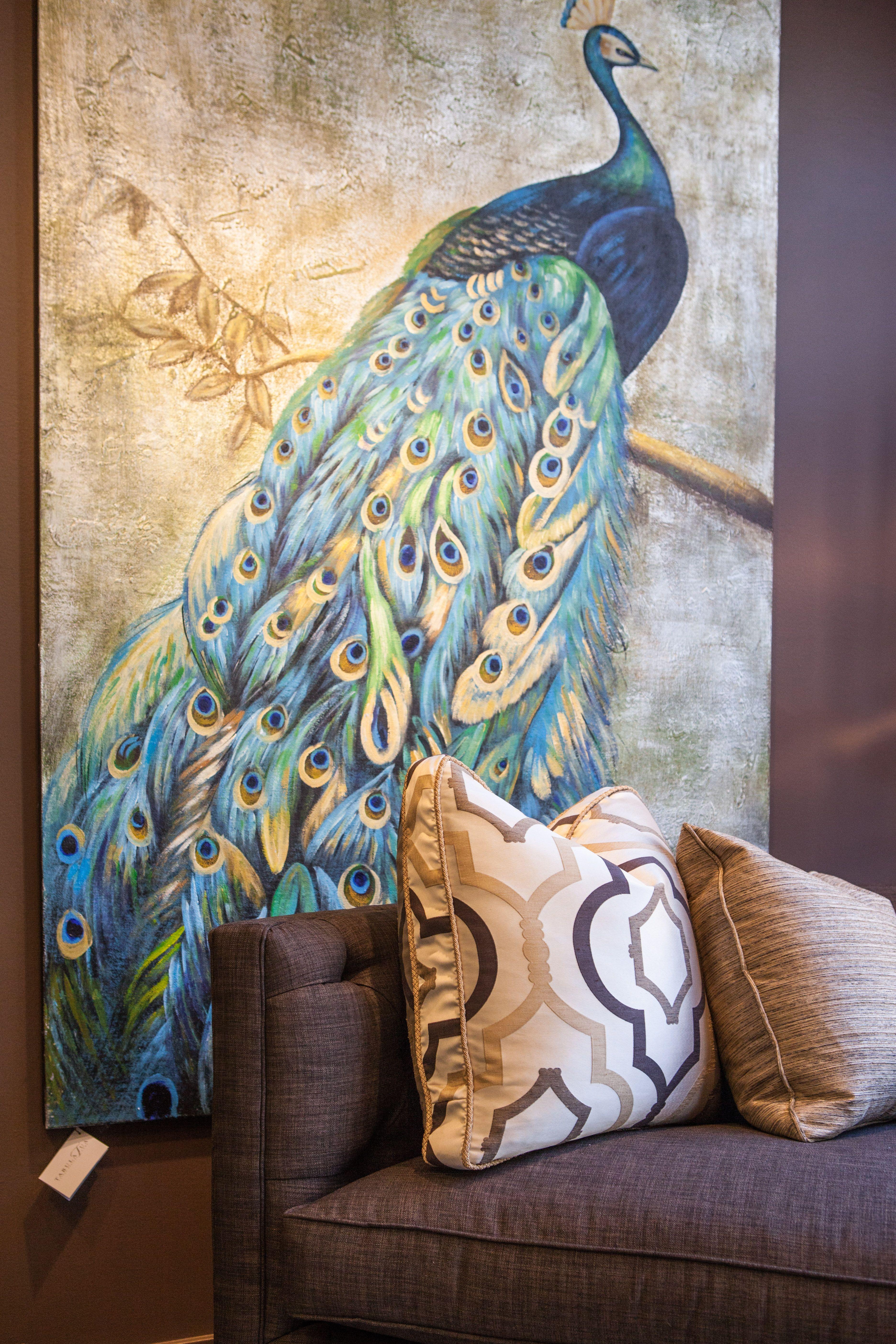 Peacock Painting At Tabula Tua 1015 W Armitage Avenue Chicago