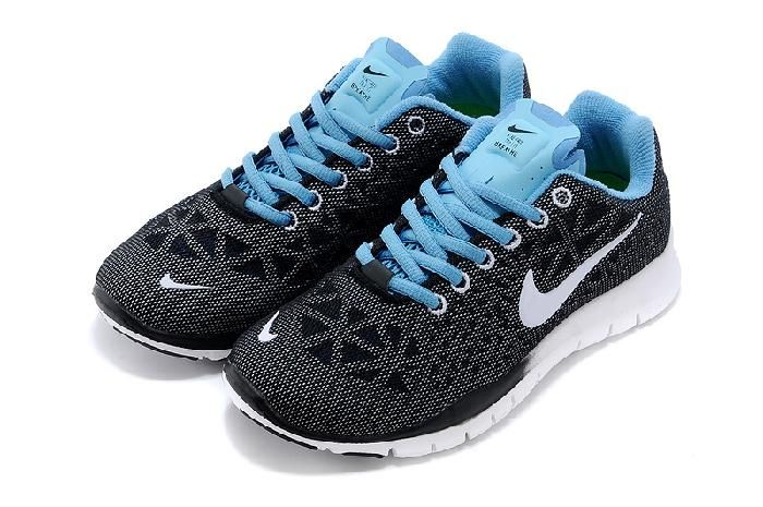 newest a77e8 89cb4 Get Nice Nike Free Run 5.0 New Release Blue Black White Online Womens Shoes  with Free