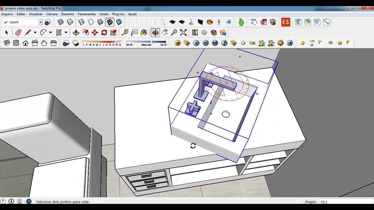 Tutorial 4 Sketchup Projeto Banheiro Banheiro Projetos Tutoriais