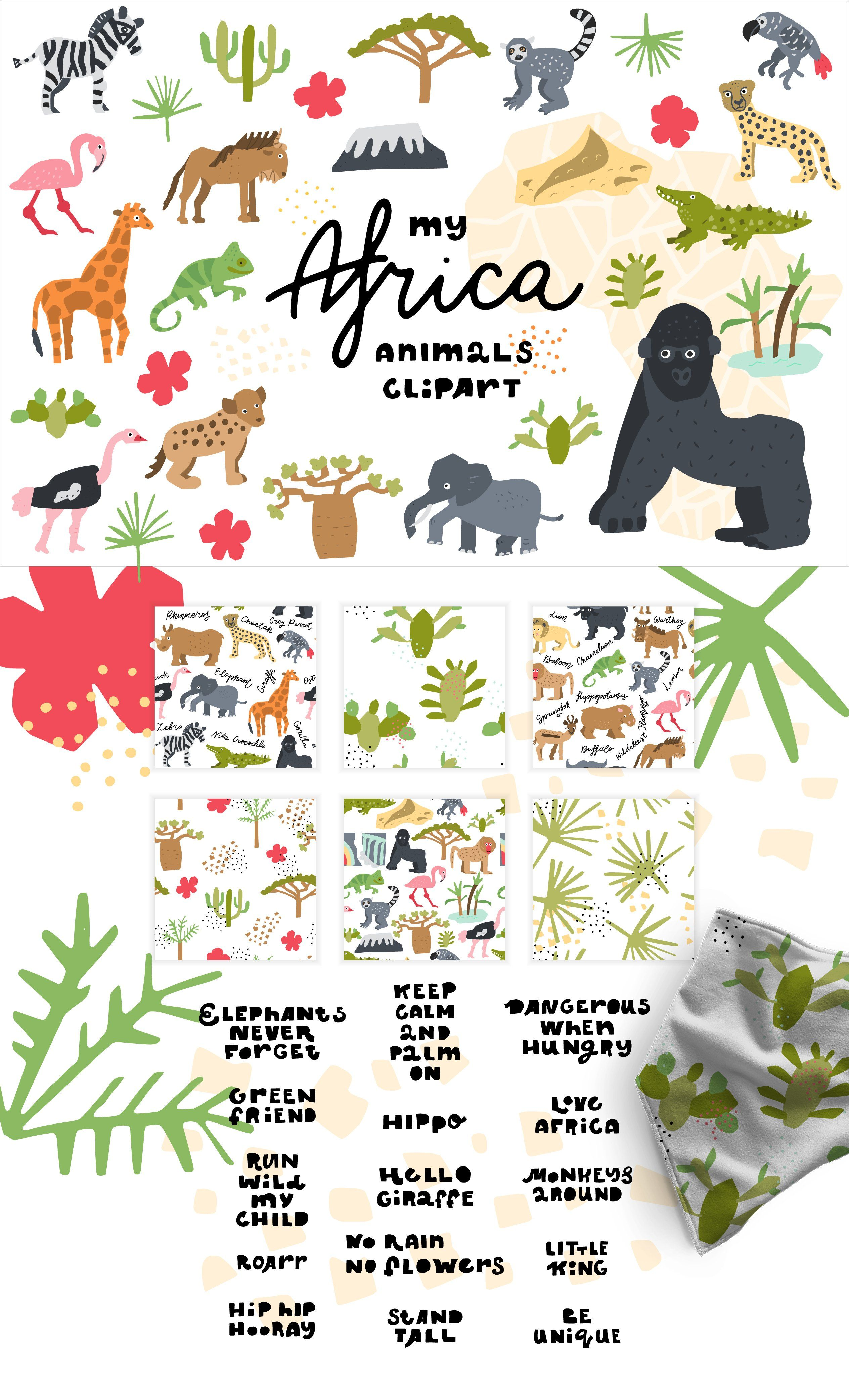 My Africa Animals Clipart Africa Animals Clip Art Africa Map