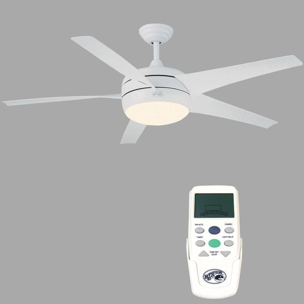 Hampton Bay Windward Ii 54 In White Ceiling Fan Can Do