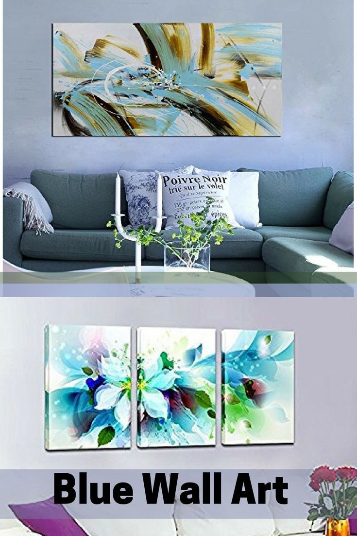 Blue wall art is a sophisticated and trendy way to deck the walls of