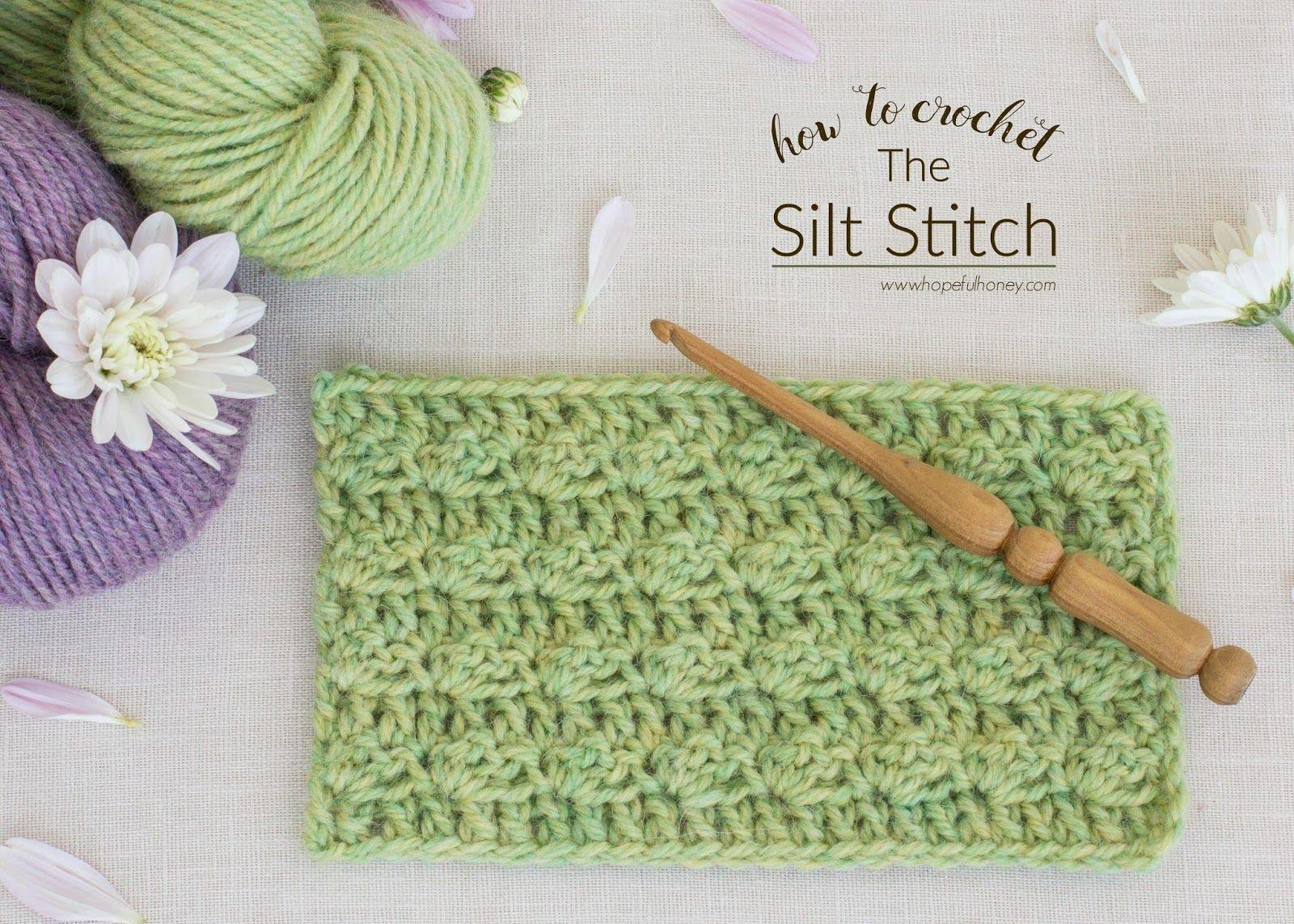 How To: Crochet The Silt Stitch - Easy Tutorial | Puntadas, Puntos ...