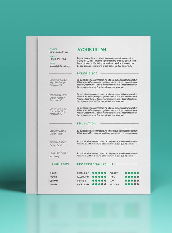 30 Free \ Beautiful Resume Templates To Download Cv template, Cv - free eye catching resume templates