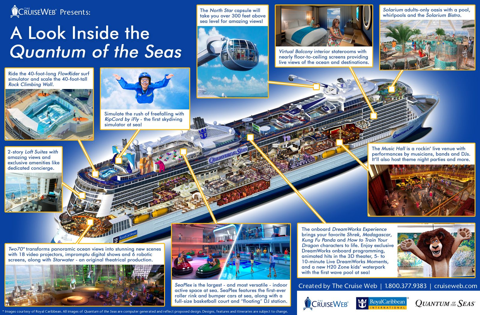 A Look Inside The Quantum Of The Seas An Infographic Royal Caribbean Princess Cruises Tours
