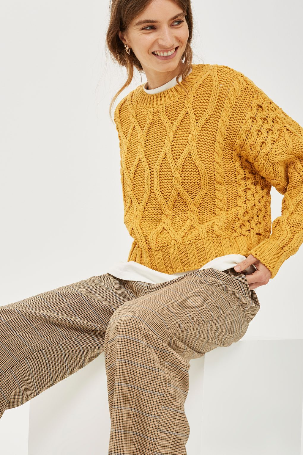 00960d8bbde Cropped Cable Sweater | Products I Love | Cable sweater, Cable knit ...