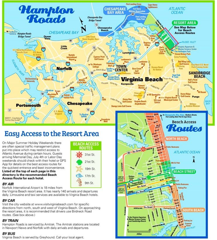 Virginia Beach tourist map Maps Pinterest Tourist map