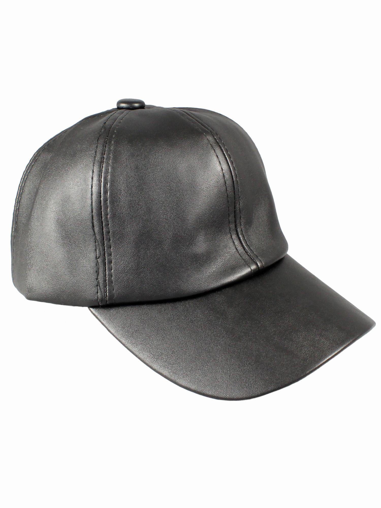 Black Leather Cap – Gold Soul. Leather Baseball Cap 68154e712f3