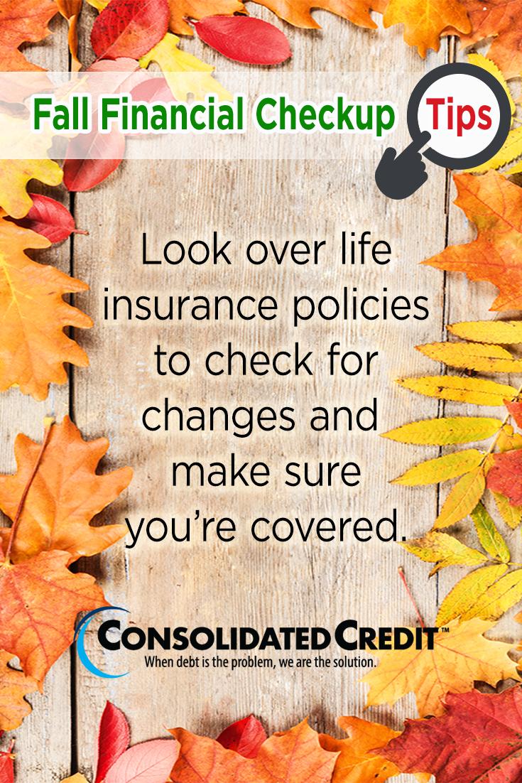 Free Financial Help with Fall Checkup Checkup, Credit