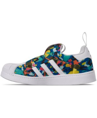 adidas Little Girls Superstar 360 Slip On Casual Sneakers