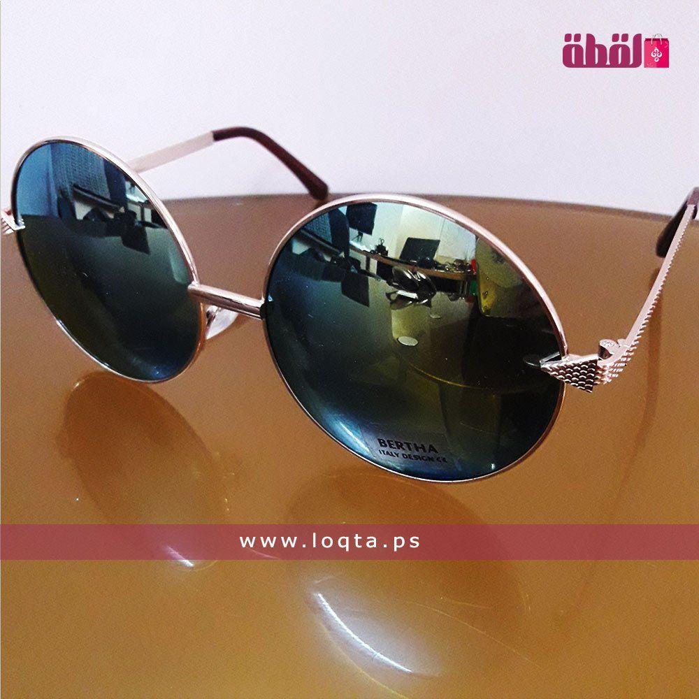نظارة شمسية إطار معدني رفيع ذهبي عدسة دائرية مرآة Loqta Ps Sunglasses Women Circle Lenses Sunglasses