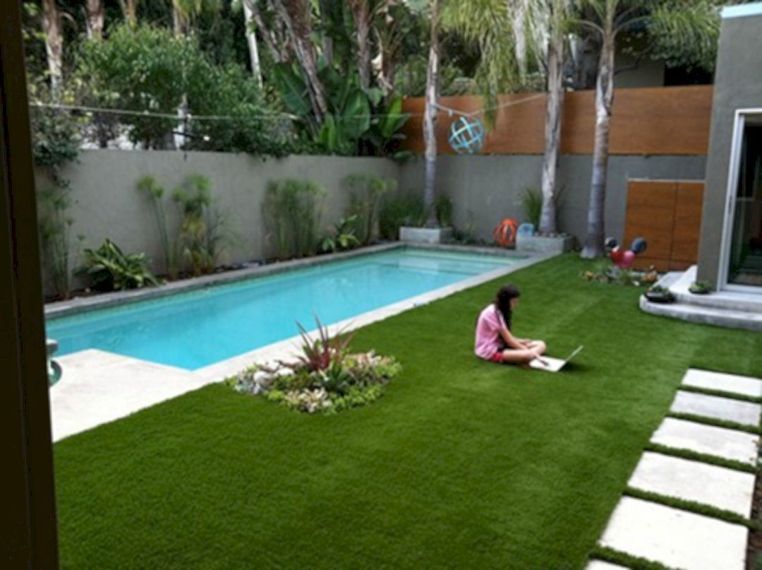 Coolest Small Pool Idea For Backyard 133 Pool Landscaping Backyard Pool Landscaping Small Pool Design
