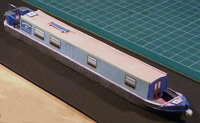 BILDRUMS KLIPPARK PAPER CUT OUT MODELS Nr 27 Narrowboat Rousham, skala 1:87 1 ark A4 + bygganvisning  Click the picture to read more and get a free download