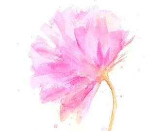 Fleur Imprime Fleurs Aquarelle Impression Tirage D Art Giclee