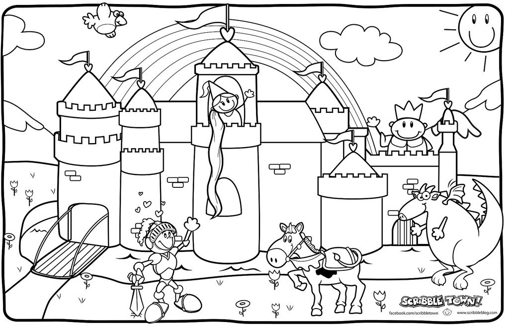 Knight And Princess Coloring Pages By Beth Fiesta Medieval