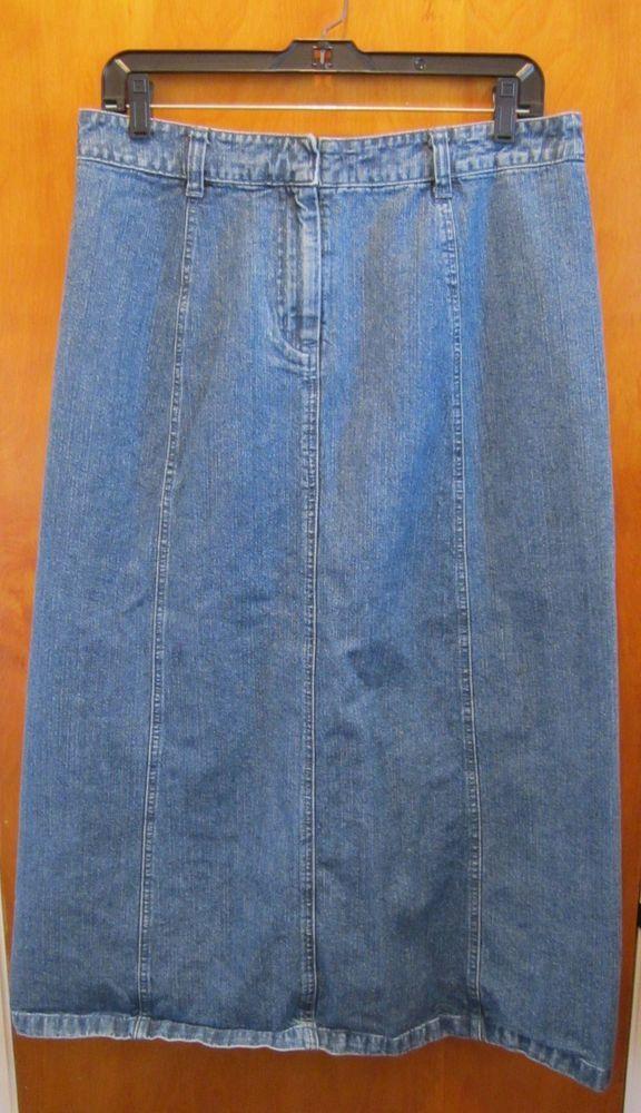 Christopher and Banks Long Modest Denim Skirt - Misses Size 10 ...