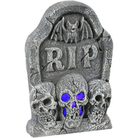 Free Shipping on orders over $35 Buy Ligth Up Skull Tombstone