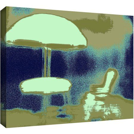 Dean Uhlinger Summer Through The Screen Gallery-Wrapped Canvas, Size: 18 x 24, Green