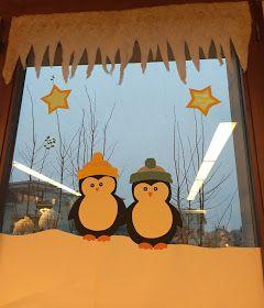 KLASSENKUNST: Fensterbilder Pinguine