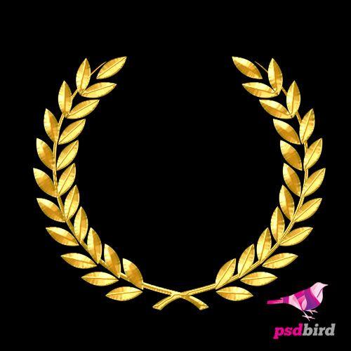 Http Www Psdbird Com Golden Olive Leaf Psd Olive Leaf Laurel Wreath Floral Border Design