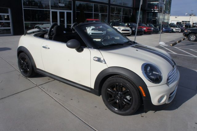 2017 Mini Cooper Roadster In Pepper White With Black Wheels And Bonnet Stripes Adorable Car