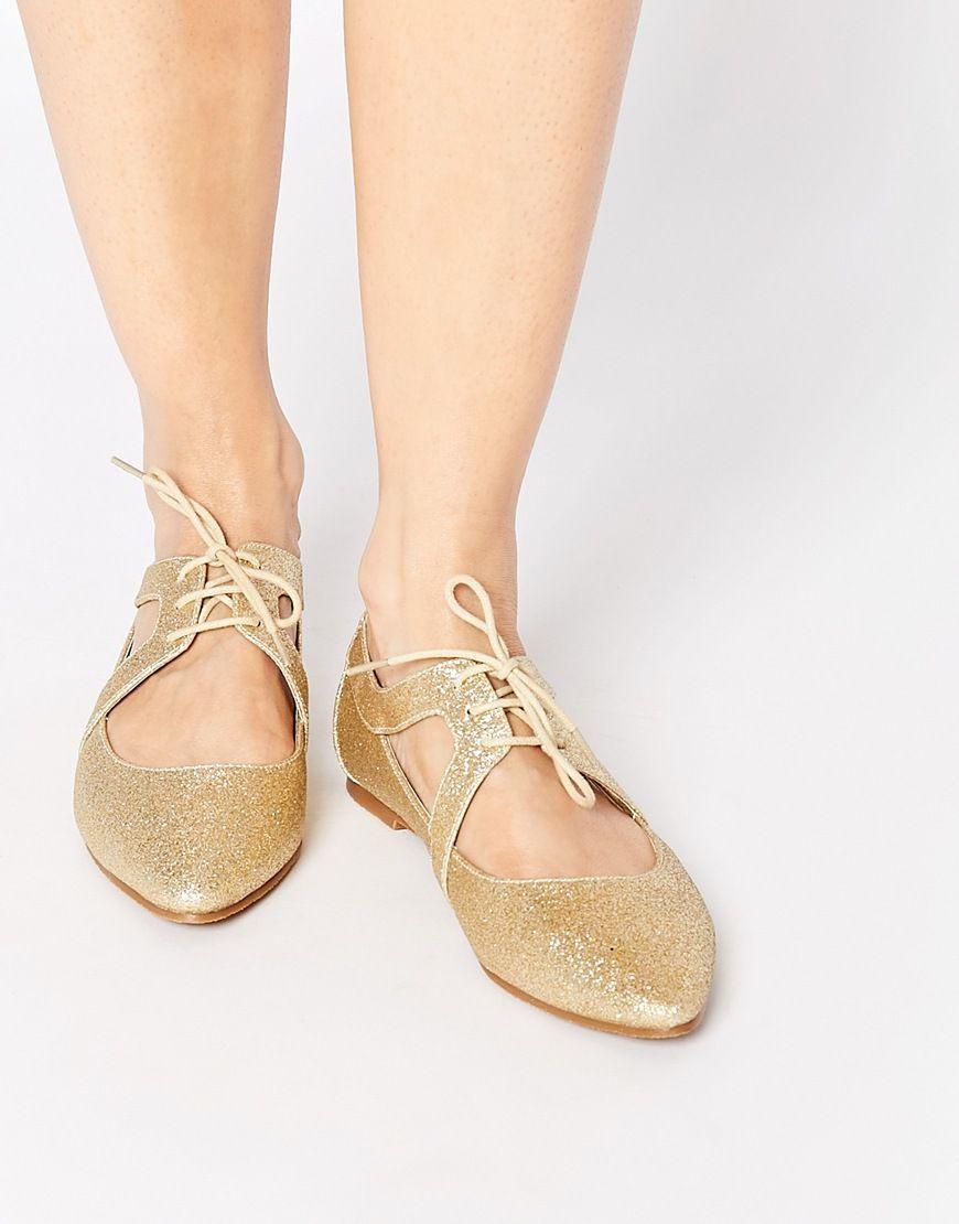 D'étape Chaussures Plates - Asos Champagne 4nd5VVXU