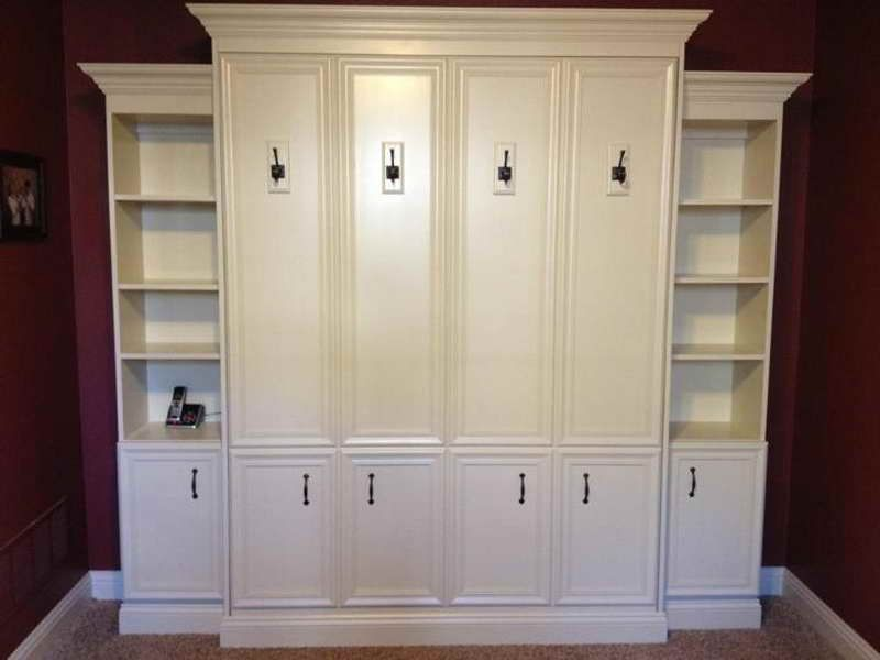 Full Size Murphy Bed With White Cabinet Bed For Nurseryguest - Building a murphy bed ikea