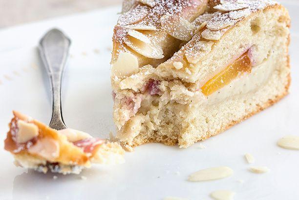 Mal wieder Quark-Öl-Teig: Nektarinen-Vanillekuchen