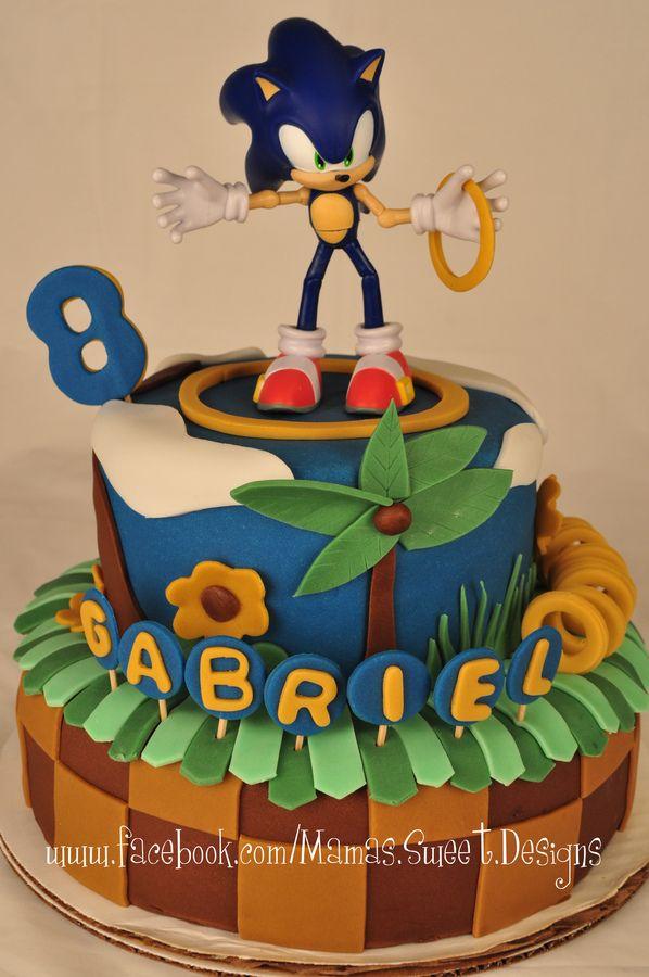 Sonic Birthday Cake Children S Birthday Cakes Sonic Birthday Cake Sonic The Hedgehog Cake Sonic Birthday