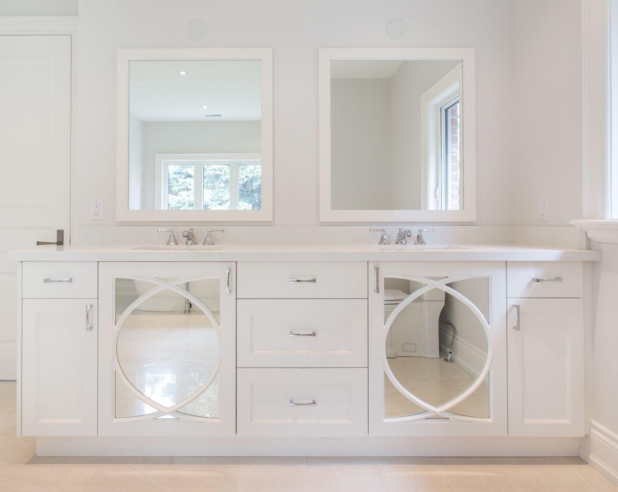 beautiful custom double sink vanity with matching custom on custom bathroom vanity mirrors id=51278