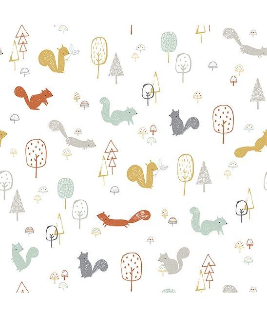 Papier Peint Chambre Bebe Forêt Arbres - Papiers Peints Bébé Garçon