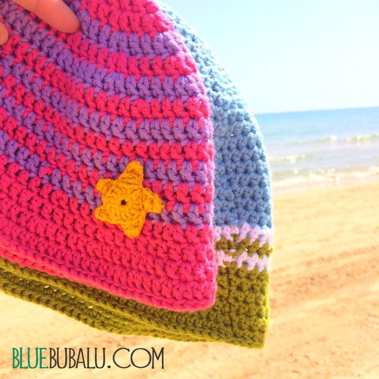 Gorrito para bebé de ganchillo. Patron gratuito Crochet Baby Summer ...