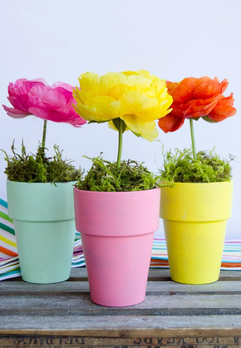 Flower Pot Craft Centerpiece Flower Pots Flower Pot Crafts Diy Flowers