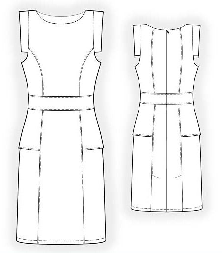 The Most Simple Dress Pattern Sewing Dresses Womens Sewing