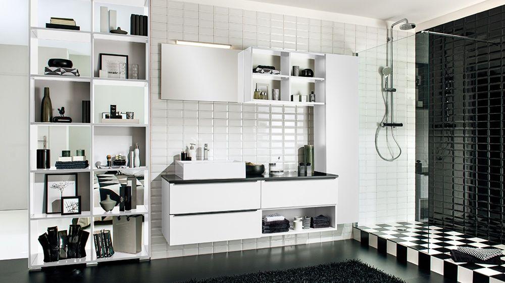 Des idées déco pour une salle de bains en noir et blanc | Damier ...
