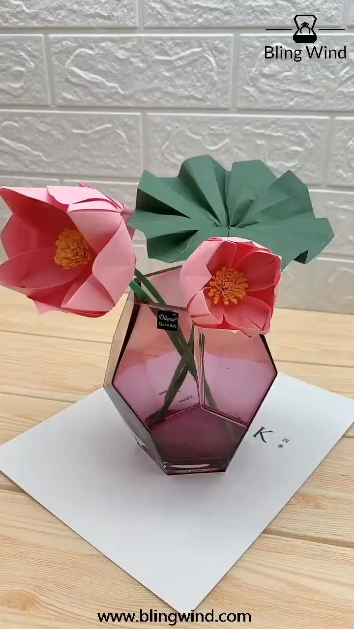 DIY Origami Lotus Flower Craft
