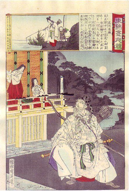 Takeuchi sukkune   楊洲周延 東錦画夜競 武内宿禰 1886