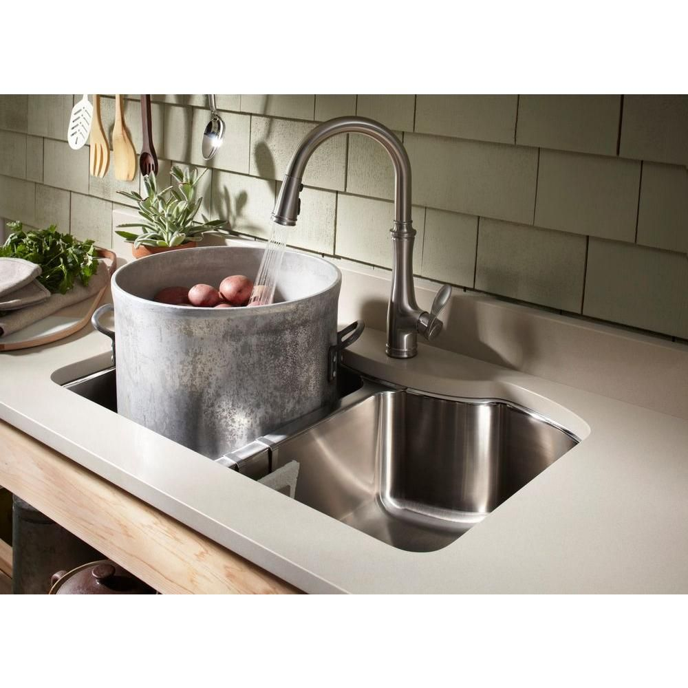 KOHLER Bellera Single-Handle Pull-Down Sprayer Kitchen Faucet with ...