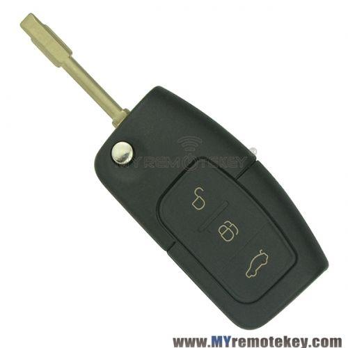 Flip Remote Car Key For Ford Id60 Chip 433 Mhz Fo21 Key Remote Car