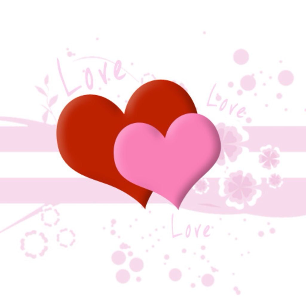 Pink and red hearts | Backgrounds | Pinterest