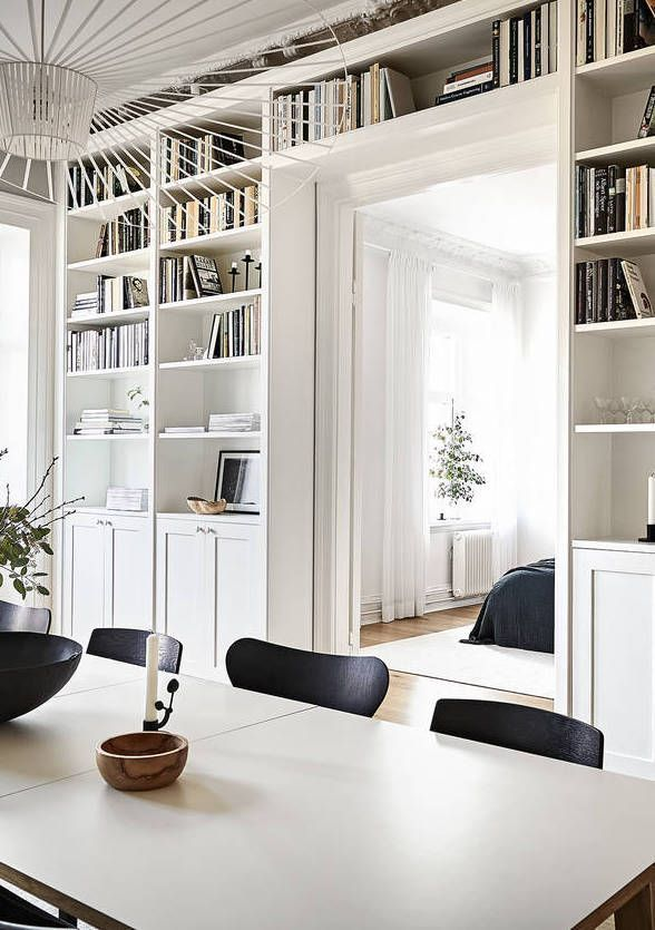 A beautiful wall covering book shelf