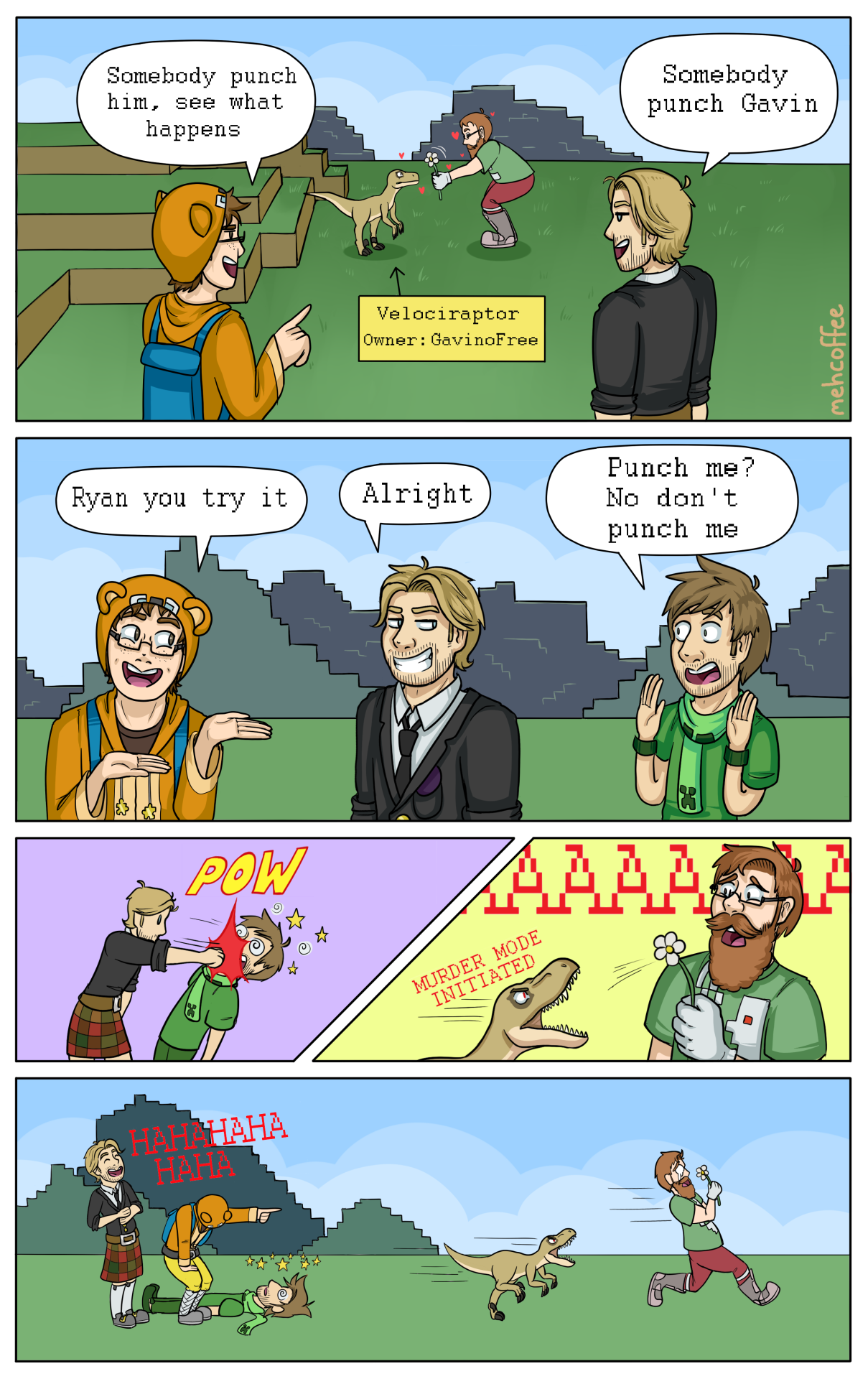 Achievement Hunter Comic by mehcoffee on tumblr (based on ... Achievement Hunter Comic Poster
