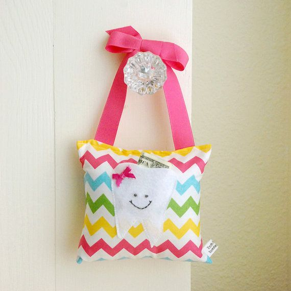 personalized tooth fairy pillow gift