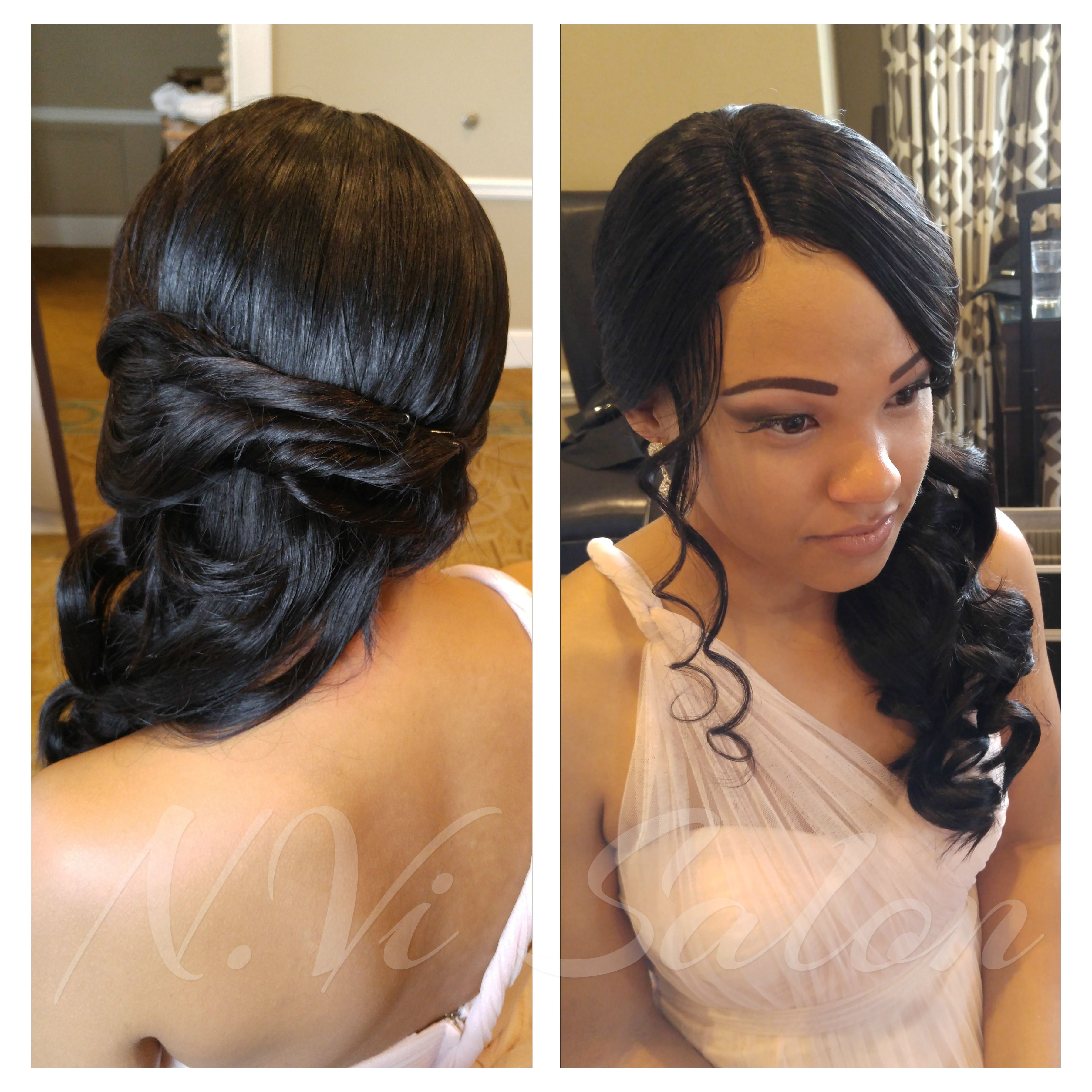 wedding hairstyles. beautiful sew-in | beautiful extensions