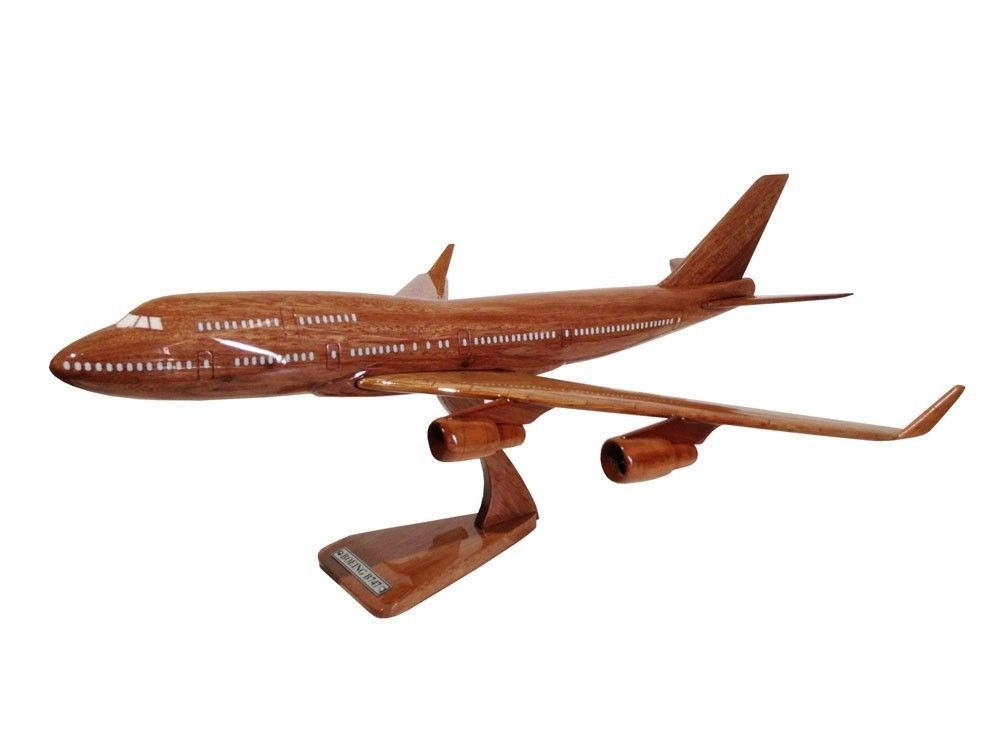 New Moc Pro BOEING B747 Wooden Handmade Airplane Model Made in Japan! S size 256 #MocPro