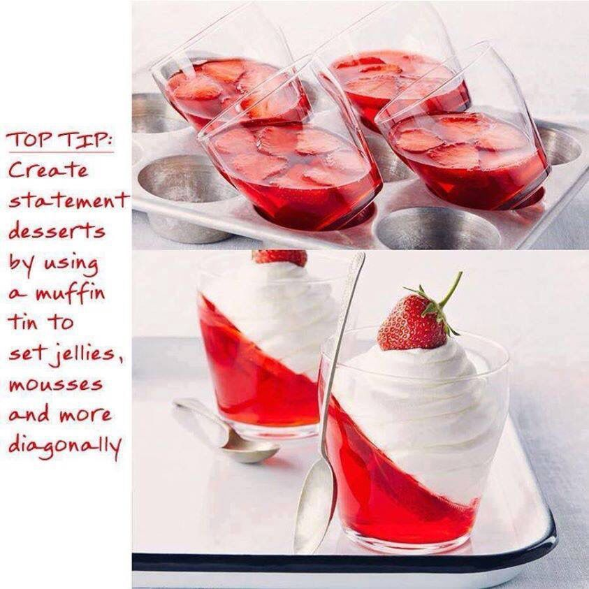Set Jelly On An Angle For Funky Looking Desserts Desserts Jello Desserts Recipes